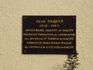 Plaque Jean Daquin
